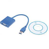 Внешняя USB Видеокарта VGA Адаптер Конвертер USB 3.0 to VGA Multi-display Display FL USB VGA