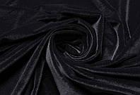 Ткань Велюр стрейч Черный