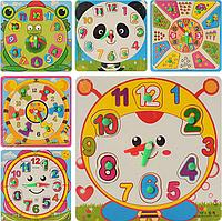 Деревянная игрушка Часы