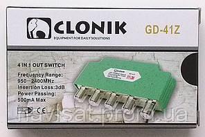 DiSEqC 2.0 4x1 Clonik в кожухе