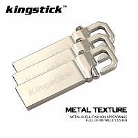 Флешка USB металлическая Kingstick 16GB карабин, фото 1