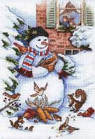 Набор для вышивки крестом 08801 Snowman & Friends, Dimensions