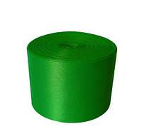 Атласная лента 5 см - цвет зеленая трава