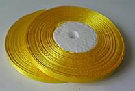 Лента атласная желтая 6 мм, 36 ярдов (32,9 м)