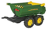 Прицеп на 4-х колесах Rolly Toys RollyHalfpipe John Deere зелено-желтый