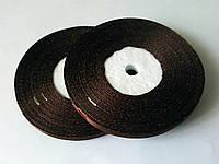 Лента атласная коричневый 6 мм, 36 ярдов (32,9 м)