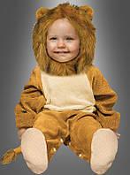 Детский карнавальный костюм льва для малышей