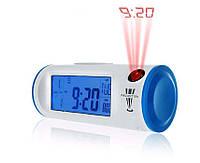 Цифровые часы с ЖК-дисплеем, подсветкой и проекцией времени CW8097