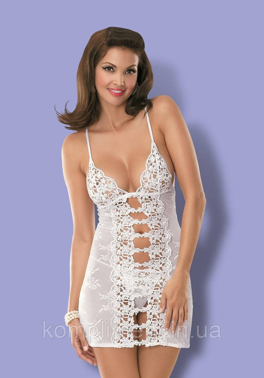 Эротическая сорочка от Obsessive BRIDE WHITE
