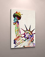 Фотокартина яркая Статуя Свободы  холст