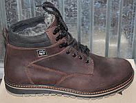 Ботинки мужские зимние на шнурках кожа, зимняя мужская обувь от производителя модель ТЛ179