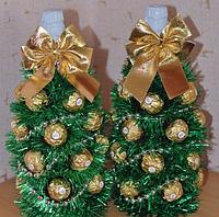 """Подарочная композиция""""Ананас""""с бутылкой шампанского и конфетами Ferrero Rocher  для руководителя(директора)."""