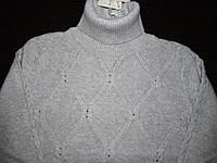 Гольф хлопковый серый плотный, декор камни, ModaLora (Модалора), 120, 150