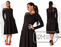 Шикарное вечернее платье (пышная юбка, длина ниже колен, длинные рукава, французская вышивка) РАЗНЫЕ ЦВЕТА!