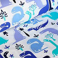 Хлопковая ткань Динозаврики