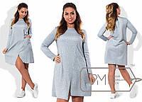 Очаровательное платье для пышных модниц (итальянский полированный трикотаж, платье на запах) РАЗНЫЕ ЦВЕТА!