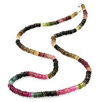Турмалин разноцветный, бусы шнурок, 172БСТ, фото 1