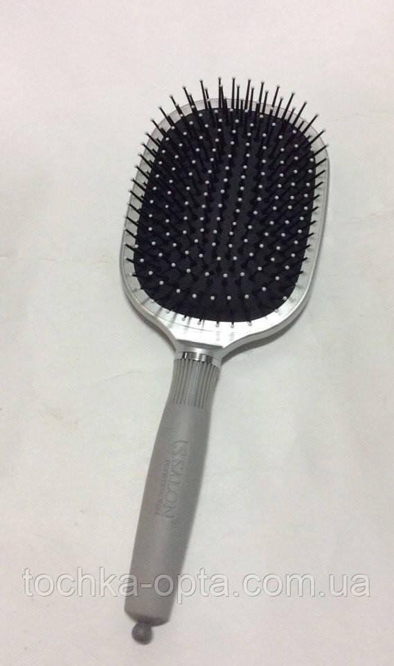 Массажная щётка для волос SALON PROFESSIONAL квадратная серая