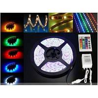 Светодиодная лента Комплект  5050 SMD RGB  60/1m   Влагозащищенная  с Контроллером, Пульт и БП  Акция !!!