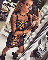 """Очень красивое, женское платье """"Леопардовый принт"""""""