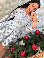 """Новогодняя коллекция! Нарядное, женское платье  """"Пышная юбка, длинные рукава, котон и кружево""""  РАЗНЫЕ ЦВЕТА"""
