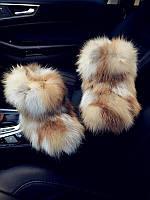 """Модные, женские, зимние угги """"Полностью из меха лисы"""""""