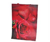 Подарочные пакеты Розы упаковка 12шт 50х72х18 см 3 вида