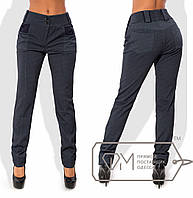 Модные, теплые женские брюки (итальянский трикотаж с начесом, узкие брюки, стильный принт) РАЗНЫЕ ЦВЕТА!