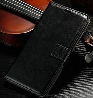 Кожаный чехол-книжка для ASUS ZenFone 2 черный