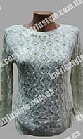 Кофта женская красивой вязки украшенная бусинками