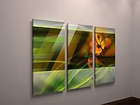 Картина модульная яркая абстракция цветы