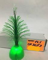 Светильник новогодний, елочка, зеленая