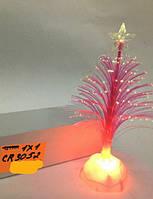 Светильник новогодний, елочка, красная