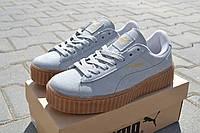 Женские кроссовки Puma Rihanna серые/  кроссовки  женские  Пума Риана весна-осень, стильные и удобные