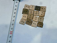 Пуговица квадратная маленькая декоративная керамическая ручной работы