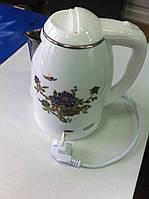 Чайник электрический DT-828 , пластиковый корпус, металлическая колба Domotec