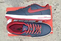 Мужские кроссовки Nike Airforce темно синие /  кроссовки  мужские  Найк Аирфорс весна-осень, высокое качество