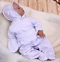 Комплект в роддом для малышей с шапочкой р.56 (белый)