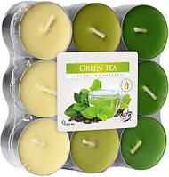 Свечи ароматизированные зеленый чай 18шт таблетки чайные