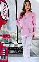 Турецкая хлопковая пижама норма штаны и кофточка
