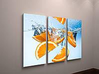 Фотокартина модульная для кухни апельсины