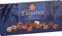 Конфеты шоколадные с пралине Elegance (Элегантность) ассорти 15 вкусов Германия 400г
