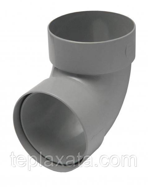RAINWAY 130/100 мм Отвод двухмуфтовый 87 градусов 100 мм