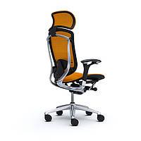 Okamura Contessa Эргономичное кресло спинка - сетка / сиденье - ткань, черная рама, без подголовника, без вешалки