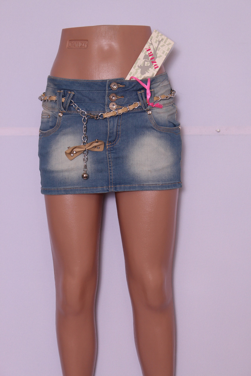 Женская короткая джинсовая юбка Dzire (код 188)