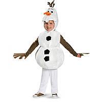 Карнавальный костюм снеговик Олаф Холодное сердце Deluxe Olaf Frozen Оригинал
