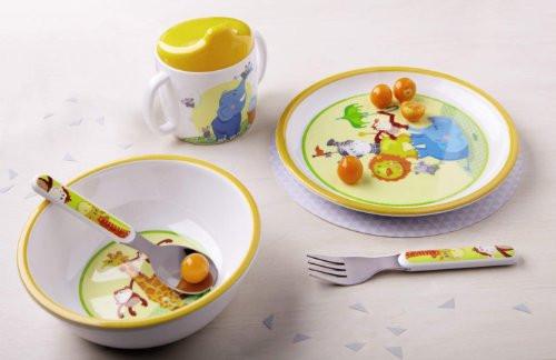 """Набор детской посуды """"Животные акробаты"""" - Haba"""