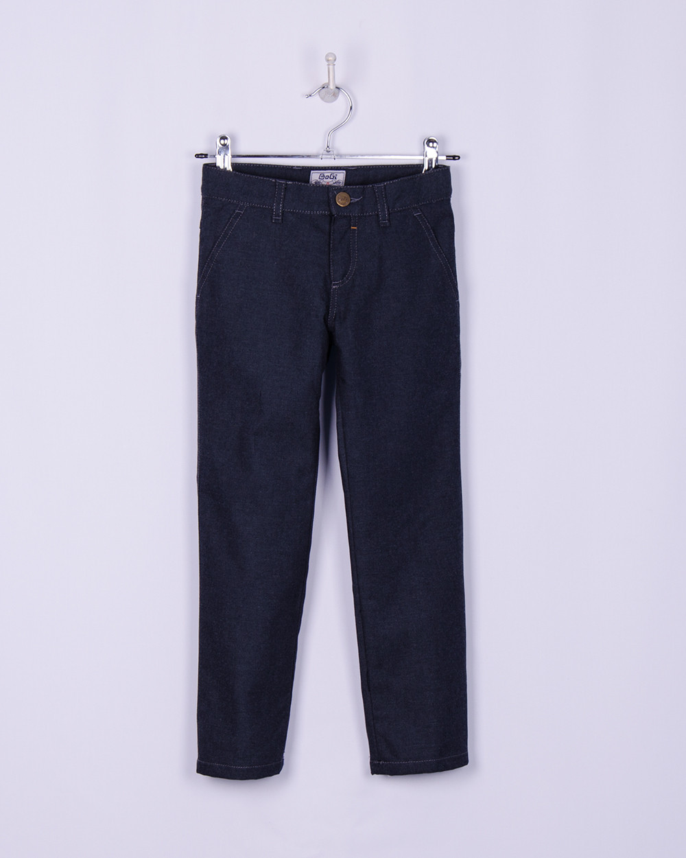 Брюки, джинсы из плотного коттона на фланелевой подкладке для мальчика, темно-серые,  BOGI (Боджи)