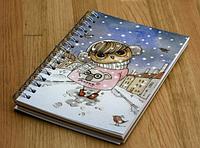 Мини-блокнот Happy дизайнерский картон 10х15 см