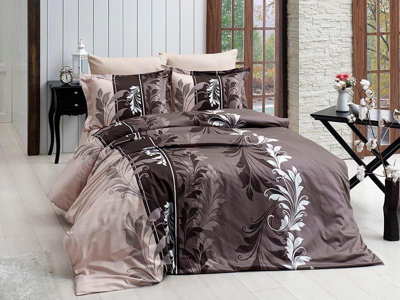 Комплект постельного белья First Choice Сатин Eylul kahve